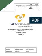 P-HSEQ-06 V.3 Procedimiento de seleccion y uso seguro de equipos y herramientas