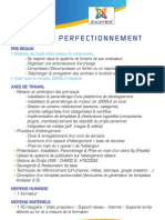 Programme de Formation Joomla Perfectionnement