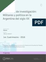 Seminario Militares y Política