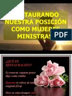 RESTAURANDO NUESTRA POSICION