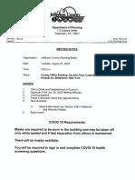 Jefferson County Planning Board agenda Aug. 25, 2020
