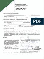 Ethics Complaint Credit Cards