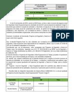 ACTA DE APROBACION DEL PROGRAMA  ANUAL DE SSO SUMARUMI