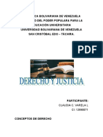 TRABAJO SOBRE DERECHO Y JUSTICIA