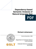 Dependency-based Semantic Analysis of Natural-language Text 1