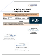 2.23 Control of Usage, Issue Maintenance and Record of Personal Protective Equipment