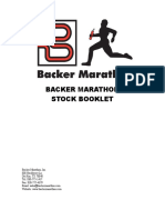 Backer Marathon Stock Booklet
