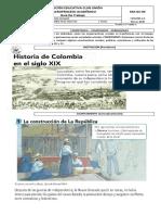 GUÍA HISTORIA DE COLOMBIA EN EL SIGLO XIX