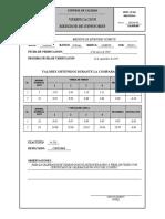Verificacion medidor de espesores