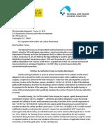 NHLP.nlihC LetterToHUDMoratoriumExpiration FINAL