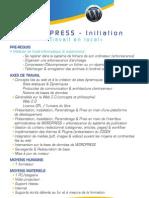Programme de Formation Wordpress Initiation