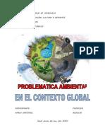PROBLEMATICA AMBIENTAL EN EL CONTEXTO GLOBAL
