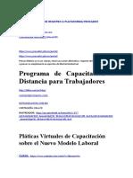Programa de Capacitación a Distancia