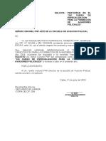 SOLICITUD CURSO DE ESPECIALIZACIÓN
