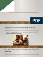 funciones de la corte costitucional
