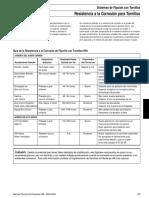Tornilleria y especificaciones