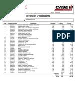 COTIZACIÓN N 00010000772 - REPUESTOS TRACTOR REVISADO N 62