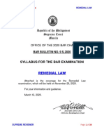 7. 2020 Syllabus - REMEDIAL LAW