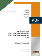 Service Manual Grader 845B