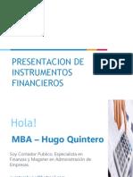 PRESENTACION DE INSTRUMENTOS FINANCIEROS BASICOS Y COMPLEJOS