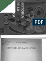 Weber, Alfred Historia de La Cultura
