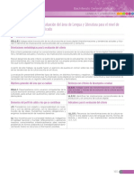 Matriz de criterios de evaluación del área de Lengua y Literatura para el nivel de Bachillerato General Unificado.