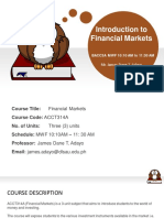 Module 1 Importance and Introduction to Financial Markets