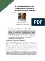 Cómo Israel contribuyó al renacimiento de siniestros etnonacionalismos en Europa