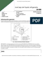 FTL Sensor Gentech de nivel bajo del líquido refrigerante
