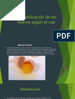 Clasificación de los huevos según el cae