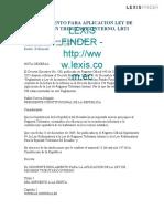 REGLAMENTO PARA APLICACION LEY DE REGIMEN TRIBUTARIO INTERNO, LRTI (1)