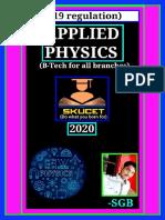 Notes on Applied Physics(Based on  R19 Regulation)-By Shaik Gouse Basha