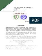 PRINCIPIOS DE CALIDAD TOTAL EN EDUCACIÓN(1)