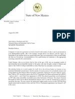 Gov. Lujan Grisham letter on Lou Henson