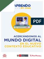 1. Acercándonos al mundo digital en el nuevo contexto educativo