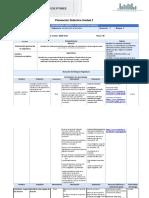 Planeación didáctica de la unidad 2