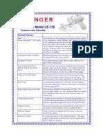 SINGER FUTURA CE-150 Product Sheet (1)