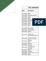 FPCL Expense Sheet