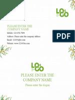 Green Minimalist Business Card-WPS Office
