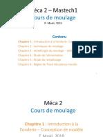 Chap 1- Introduction à la fonderie - Conception de modèle 2017new