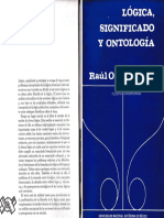 Lógica, significado y ontología