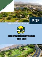Plan Estratégico Institucional 2018-2020. MUNI LA MOLINA
