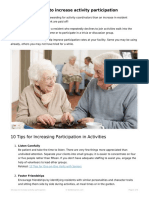 10 ways to increase activity participation