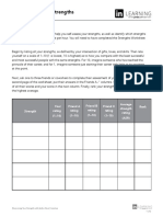 Strengths Rating Worksheet