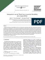Interparticle van der Waals force in powder flowability