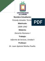 Informe de Lectura Unidad I, Yirandy Amador