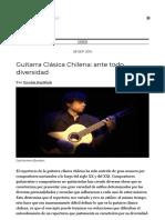 Guitarra Clásica Chilena_ ante todo, diversidad