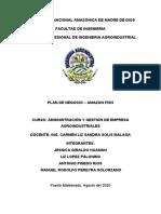PLAN DE NEGOCIO AMAZON FISH - AVANCE DESDE EL 1 AL 8