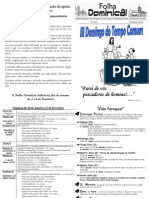 Folha Paroquial Vale S. Martinho (423) - 23 Janeiro 2011