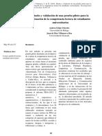 Morales y Villanueva_ Diseño y validación de una prueba piloto para la evaluación de competencia lectora